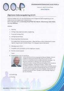 Uitnodiging ALV OOP 2017